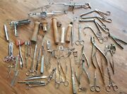 Large Lot Of Doctorand039s Surgeonand039s Medical Tools Tonsils Eent Devices Vintage