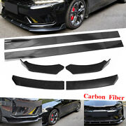 Carbon Fiber 86.6and039and039 Side Skirts Kit+front Bumper Lip Spoiler Chin For Kia K5