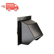 Wall Vent Cover Exterior Cap 6 Inch Duct Vent Black Exhaust Fan Range Hood New