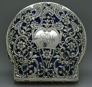 Rare C.1899 Sterling Silver Big Jewelry Box By Graff Washbourne And Dunn New York