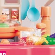 Play Kitchenware Kit For Kids Kitchen Cooking Set Roleplay Toddler Playhouse