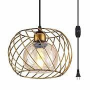Ylong-zs Hanging Lamps Swag Lights Plug In Pendant Light With On/off Switch Wire