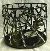 Bath And Body Works Halloween 2021 Black Diamond Spider Web 3-wick Candle Holder