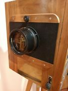 Soviet Fkd Wooden Camera New 1824 1977 Year Of Release With A Lens Of 4.5/300