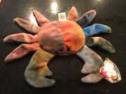 Ty Beanie Babies Claude The Crab W Errors See Pictures