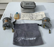 Vintage Pflueger Supreme Fishing Reels With A Case And Extras
