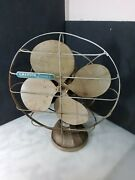 Antique Emerson Electric Table Fan Oscillating 2 Speeds 17x14 Inches
