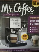 New Mr. Coffee One Touch Coffee House Espresso And Cappuccino Machine Stainless
