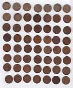 Almost Complete Set Indian Cents 1857-1909 Missing Only 1877+1909-s 56 Coins