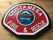 Fire Department Costa Mesa 3d Routed Patch Plaque Sign Custom Carved