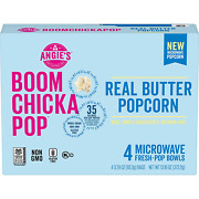 Angie's Boomchickapop Real Butter Microwave Popcorn, 3.29 Oz. Classic Bags Pack