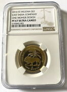 St Helena 2014 East India Company 1 Mohur Pound Ngc Gold Coinproof