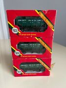 3 Vintage Hornby Boxed R.232 Opersting Ore Wagon Cars Consett Iron Co Limited