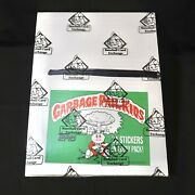 1986 Garbage Pail Kids 5th Series Sealed Rack Pack Box 24 Pk Bbce Authenticated