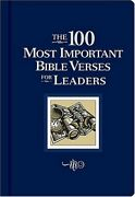 The 100 Most Important Bible Verses For Leaders By Hubbard David Allan Book The