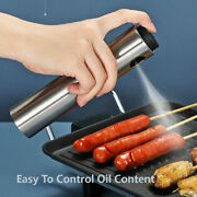Barbecue Grill Stainless Pump Oil Spray Bottle Cooking Kitchen