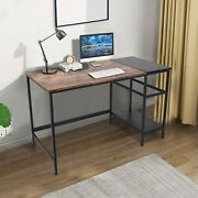 47and039and039 Computer Desk Home Office Writing Desk Modern Style Table Sturdy Easy Clean
