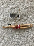Female Swimmer Ornament Christmas Holiday Unique Gift Swim Team Red Suit Nwt