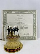 Ma4 1996 Franklin Mint The Beatles Help Glass Dome Music Box Limited Edition