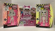 Lol Surprise Omg Lights Speedster Fashion And Dazzle Doll And Game 15 Surprises Lot