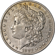1882-o/s Morgan Silver Dollar And039brokenand039 Early Die State Vam 5 Nice Au/bu