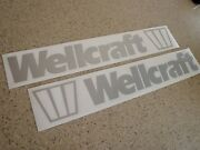 Wellcraft Vintage Boat Decal Silver 18 2-pak Free Ship + Free Fish Decal