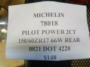 1 New Michelin Pilot Power 2ct 150 60 17 66 Rear Tires 78018