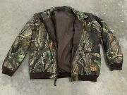 Remington Camouflage Insulated Hunting Jacket W/zip Sleeves Menand039s Size Medium