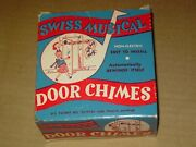 Vintage 1950s Swiss Musical Door Chimes Carousel Waltz Works Great New In Box