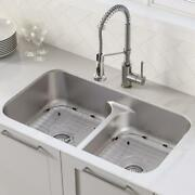 Kraus Undermount Kitchen Sink Double-bowl Corrosion Resistant Pull-down Hose