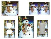 Snowman Christmas Holiday Home Wall Decor Light Switch Plates Or Outlets