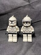 Lego Star Wars Phase 1 Clone Trooper Minifigures Lot Of 2 Printed Faces