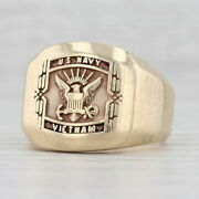 Us Navy Vietnam Ring 10k Yellow Gold Size 8.75 Vintage Military
