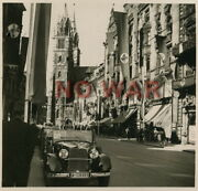 Wwii German Photo Nuremberg City At Political Parade Time Mercedes-benz Cars