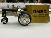 Timex Quartz Miniature Collectible Tractor Clock Very Nice Box And Warranty Paper