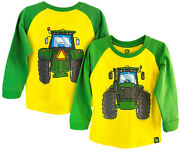 New John Deere Toddler Green Yellow Coming Going Tractor T-shirt Sizes 2t 3t 4t