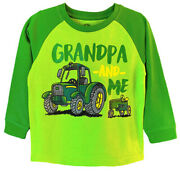 New John Deere Toddler Green Grandpa And Me Tractor T-shirt Sizes 2t 3t 4t