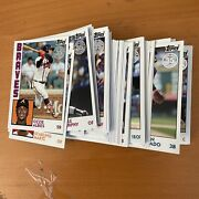 Lot Of 85 T84 Tops 35th Anniversary Insert Cards Baseball - Almost Complete Set