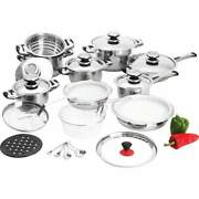 Chef's Secret® 28pc 12-element T304 Stainless Steel Waterless Cookware