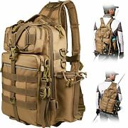 Blisswill Fishing Backpack Outdoor Tackle Bag Large Fishing Rod Holder Backpack