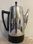 Vintage Presto Stainless Steel Percolator 2-12 Cups W/cord 0281104 Collectible