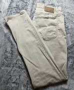 Bke Casual Jeans Jake Straight Leg Mid Rise Menand039s Size 34xl Beige