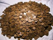 Wheat Cents 5000 All Thirties P Mints 100 Rolls Avg Circulated No Culls