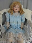 Large Antique German Doll 29 Kestner 171 Ball Jointed Compo Body Bisque Head