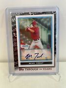 Mike Trout Auto /299 2021 Topps Through The Years 2009 1st Bowman Chrome Tty28