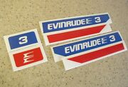 Evinrude Outboard Vintage Decal Kit 2 3 4 6 Hp Free Ship + Free Fish Decal
