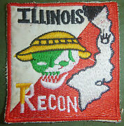 Illinois Deathand039s Head - Patch - Us Special Forces Recon Team - Vietnam War 5846