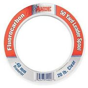 Ande Fcw100 Fluorocarbon 100 50yd Saltwater Fishing Line Leader Spool