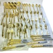 Rogers Bros 1847 Reflection Is   1959 Goldplated   Set Of 58 Pieces   Never Used