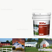 New Durable 5 Gal White Exterior Barn And Fence Paint Oil-latex Livestock-safe